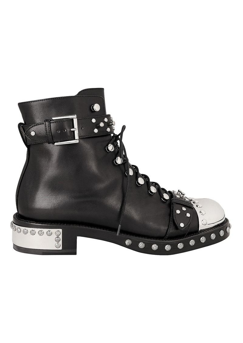 Alexander McQueen Hobnail Ankle Boots