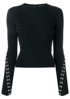 Alexander McQueen hook and eye jumper