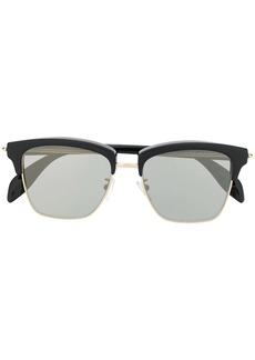 Alexander McQueen horn-rimmed square sunglasses