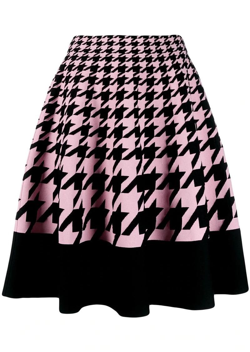 Alexander McQueen houndstooth knitted skirt