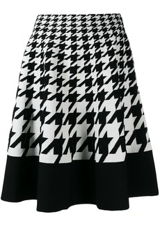 Alexander McQueen houndstooth pattern full skirt