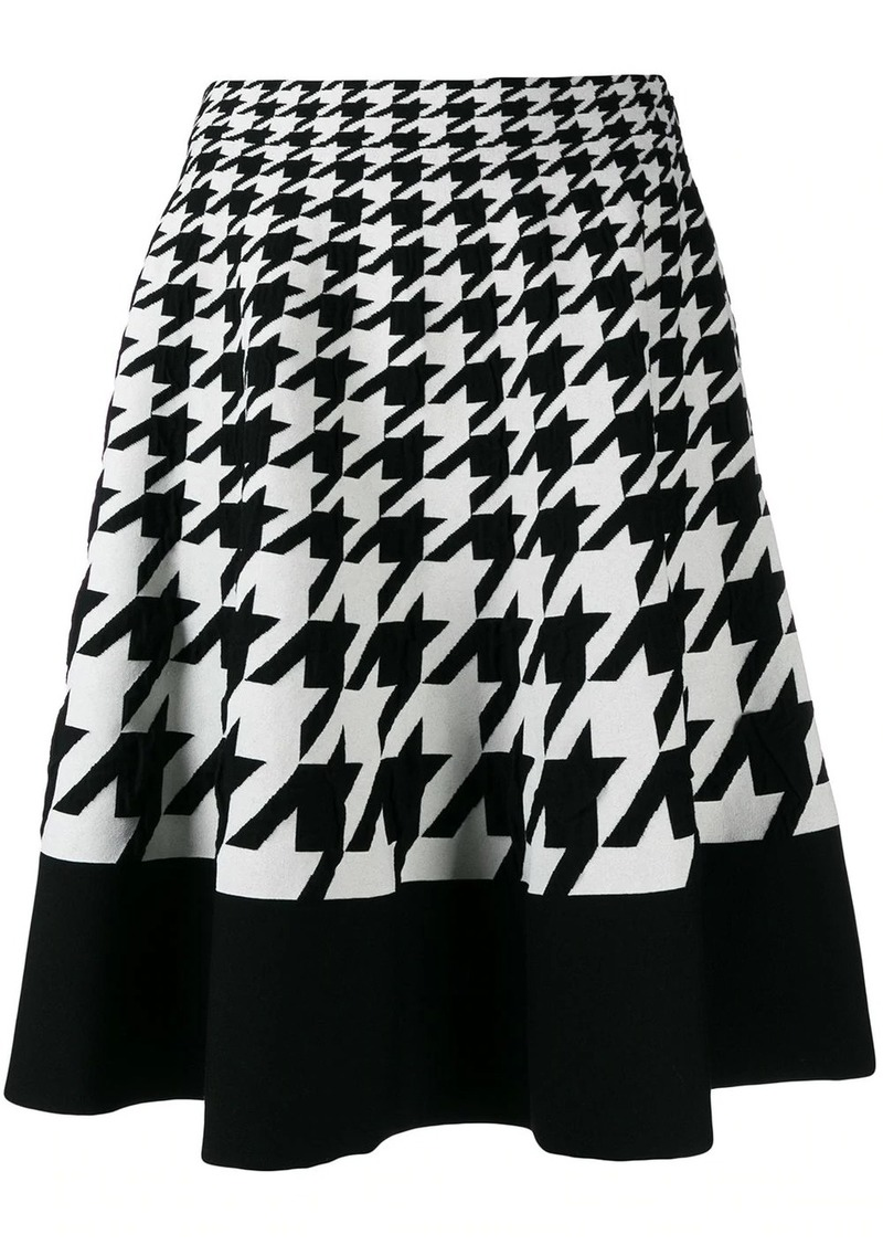 Alexander McQueen houndstooth pattern full skirt