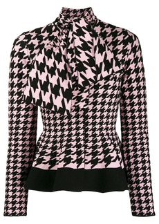 Alexander McQueen houndstooth patterned knitted cardigan