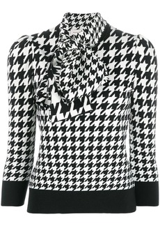Alexander McQueen houndstooth print blouse