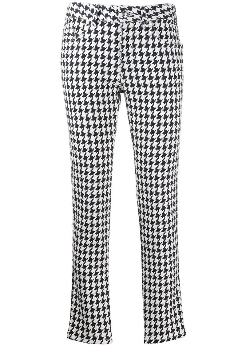 Alexander McQueen houndstooth-print slim-fit jeans