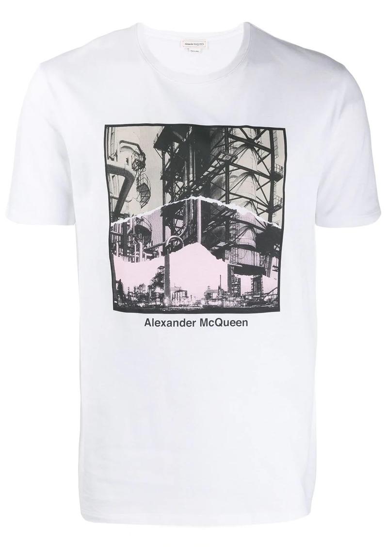 Alexander McQueen Industrial Scene print T-shirt