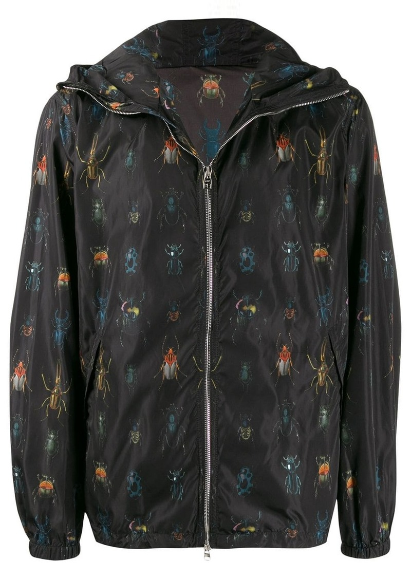 Alexander McQueen insect print hooded jacket