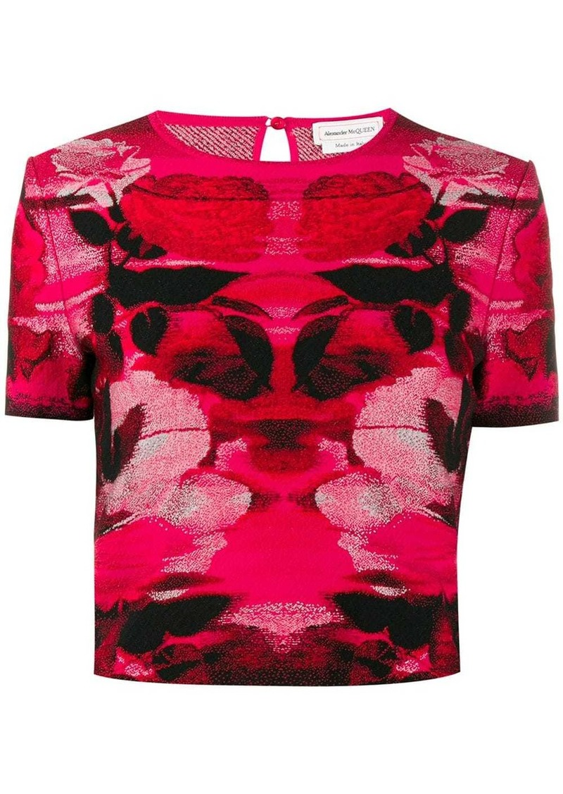 Alexander McQueen intarsia knitted top