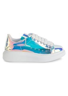 Alexander McQueen Iridescent Leather Platform Sneakers