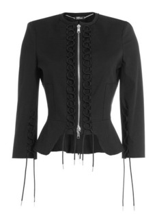 Alexander McQueen Jacket with Lace-Up Detail