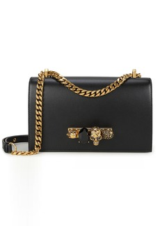 Alexander McQueen Jewel Knuckle Black Chain Strap Shoulder Bag