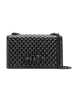 Alexander McQueen jewelled skull quilted crossbody bag