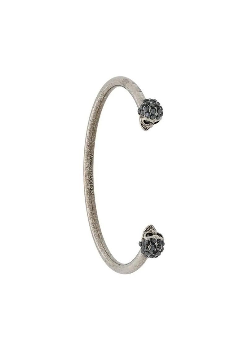 Jewelled Twin Skull Bracelet
