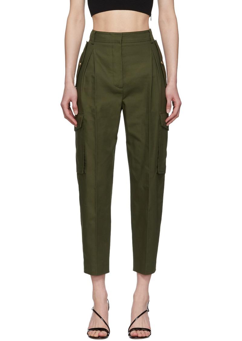 Alexander McQueen Khaki Cargo Pant