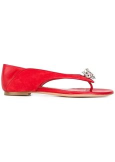 Alexander McQueen king and queen skull sandals