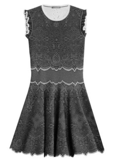 Alexander McQueen Knit Cocktail Mini-Dress