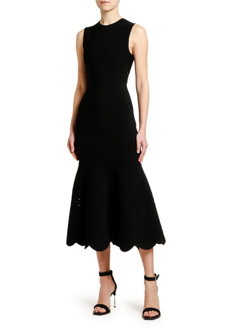 Alexander McQueen Knit Mermaid Midi Dress