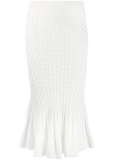 Alexander McQueen knit trumpet midi skirt