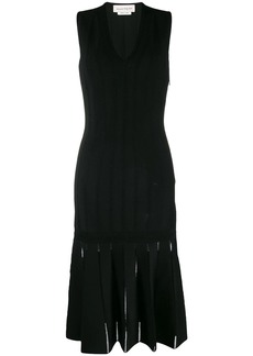 Alexander McQueen knitted cut-out dress