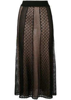Alexander McQueen knitted draped skirt