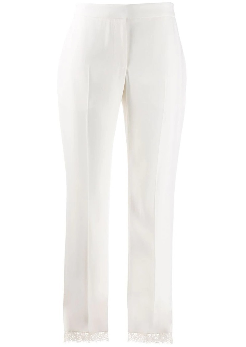 Alexander McQueen lace hem cropped trousers