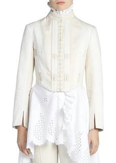 Alexander McQueen Lace-Up Denim Jacket