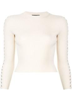 Alexander McQueen lace-up ribbed jumper