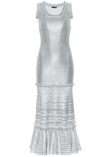 Alexander McQueen Laddered knit midi dress