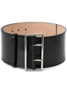 Alexander McQueen large double-buckle belt