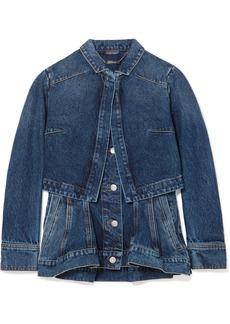 Alexander McQueen Layered Denim Peplum Jacket