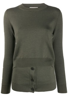 Alexander McQueen layered effect crew neck jumper