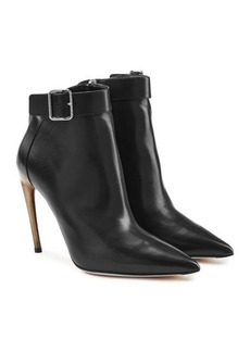 Alexander McQueen Leather Ankle Boots with Stiletto Heels