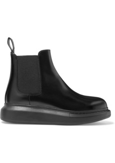 Alexander McQueen Glossed-leather Exaggerated-sole Chelsea Boots