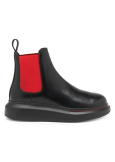 Alexander McQueen Bi-Color Hybrid Leather Chelsea Boots