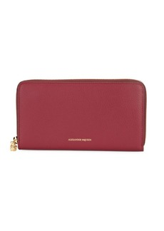 Alexander McQueen Leather Continental Wallet