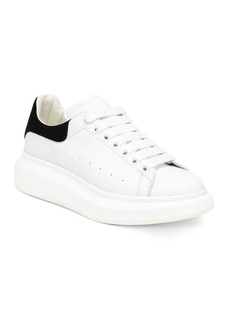 Alexander McQueen Suede & Leather Platform Sneakers