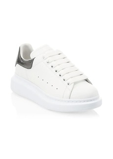 Alexander McQueen Metallic Leather Platform Sneakers
