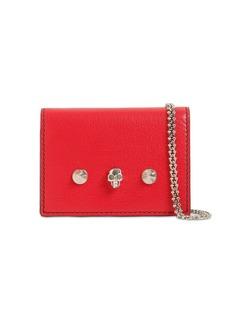 Alexander McQueen Leather Wallet W/chain