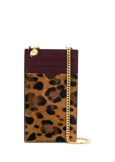 Alexander McQueen leopard print phone wallet