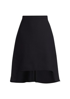 Alexander McQueen Light Wool & Silk High-Low Mini Skirt