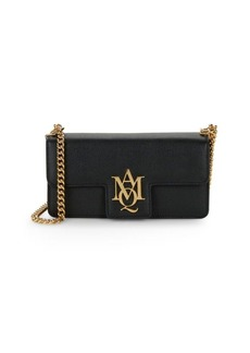 Alexander McQueen Logo Leather Crossbody Bag