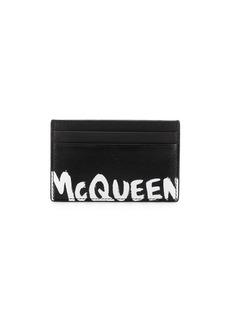 Alexander McQueen logo print cardholder