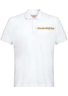 Alexander McQueen Logo Tape Cotton Polo