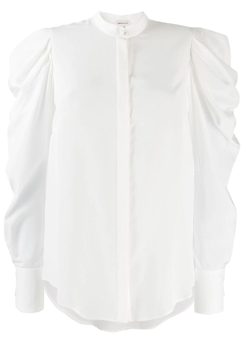 Alexander McQueen long puffed sleeve shirt