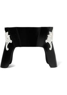 Alexander McQueen Macramé-insert Leather Corset Belt