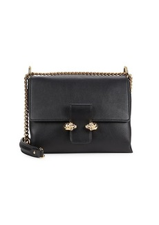 Alexander McQueen Medium Twin Skull Leather Crossbody Bag