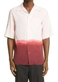 Men's Alexander Mcqueen Dip Dye Short Sleeve Button-Up Shirt