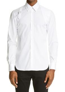 Men's Alexander Mcqueen Harness Stretch Poplin Men's Button-Up Shirt