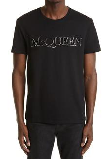 Men's Alexander Mcqueen Men's Embroidered Logo T-Shirt