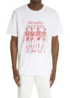 Men's Alexander Mcqueen Men's Skeleton Graphic Tee